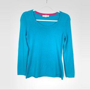 C. Cashmere | Teal Crew Neck 100% Cashmere Sweater
